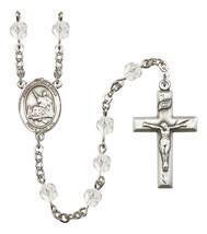 Women's St John Licci Rosary Beads Silver Plated Birthstone April R6000CS-8358 - $74.55