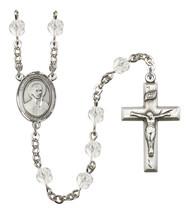 Women's St John Berchmans Rosary Beads Birthstone April R6000CS-8370 - $74.55