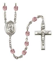 Women's St John The Apostle Rosary Beads Birthstone June R6000LAMS-8056 - $74.55