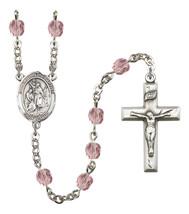 Women's St John The Baptist Rosary Beads Birthstone June R6000LAMS-8054 - $74.55