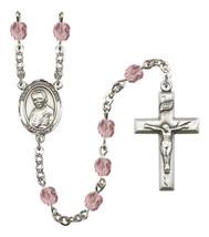 Women's St John Neumann Rosary Beads Birthstone June R6000LAMS-8204 - $74.55