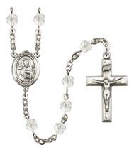 Women's St John The Apostle Rosary Beads Birthstone April R6000CS-8056 - $74.55