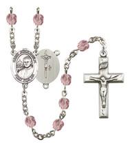 Women's St John Paul Ii Rosary Beads Birthstone June R6000LAMS-8234 - $74.55