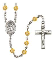 Women's St John The Baptist Rosary Beads Birthstone November R6000TPS-8054 - $74.55