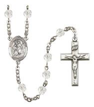 Women's St John The Baptist Rosary Beads Birthstone April R6000CS-8054 - $74.55