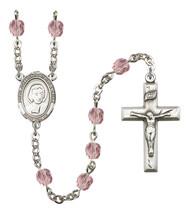 Women's St John Baptist De La Salle Rosary Beads Birthstone June R6000LAMS-8262 - $74.55