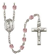 Women's St Jude Thaddeus Rosary Beads Birthstone June R6000LAMS-8060 - $74.55