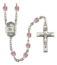Women's St Joshua Rosary Beads Silver Plated Birthstone June R6000LAMS-8059 - $74.55