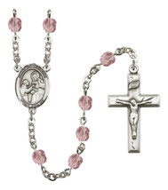 Women's St John Of God Rosary Beads Silver Plated Birthstone June R6000LAMS-8112 - $74.55