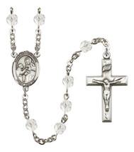 Women's St John Of God Rosary Beads Silver Plated Birthstone April R6000CS-8112 - $74.55