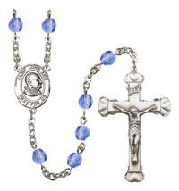 Women's St John Xxiii Rosary Beads Birthstone September R6001SAS-8455 - $74.55