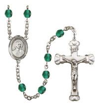 Women's St John Berchmans Rosary Beads Birthstone December R6001ZCS-8370 - $74.55