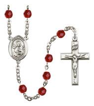 Women's St John The Apostle Rosary Beads Birthstone July R6000RBS-8056 - $74.55