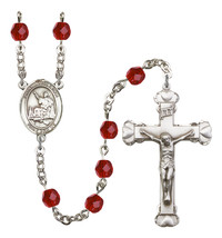 Women's St John Licci Rosary Beads Silver Plated Birthstone July R6001RBS-8358 - $74.55