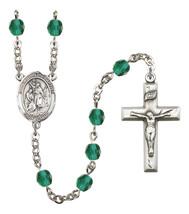 Women's St John The Baptist Rosary Beads Birthstone December R6000ZCS-8054 - $74.55