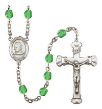 Women's St John Bosco Rosary Beads Silver Plated Birthstone August R6001PDS-8055 - $74.55