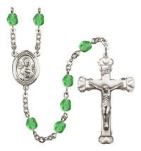 Women's St John The Apostle Rosary Beads Birthstone August R6001PDS-8056 - $74.55