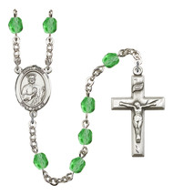 Women's St Jude Thaddeus Rosary Beads Birthstone August R6000PDS-8060 - $74.55