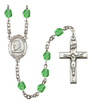 Women's St John Bosco Rosary Beads Silver Plated Birthstone August R6000PDS-8055 - $74.55