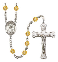 Women's St John Neumann Rosary Beads Birthstone November R6001TPS-8204 - $74.55