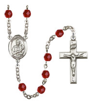Women's St Lawrence Rosary Beads Silver Plated Birthstone July R6000RBS-... - $74.55