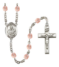 Women's St Lawrence Rosary Beads Silver Plated Birthstone October R6000P... - $74.55