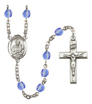 Women's St Lawrence Rosary Beads Birthstone September R6000SAS-8063 - $74.55