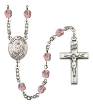 Women's St Norbert Of Xanten Rosary Beads Birthstone June R6000LAMS-8447 - $74.55