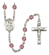Women's St Nicholas Rosary Beads Silver Plated Birthstone Febuary R6000A... - $74.55