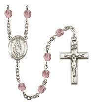 Women's St Nathanael Rosary Beads Silver Plated Birthstone June R6000LAM... - $74.55