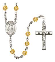 Women's St Nicholas Rosary Beads Silver Plated Birthstone November R6000TPS-8080 - $74.55