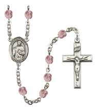 Women's St Placidus Rosary Beads Silver Plated Birthstone June R6000LAMS... - $74.55