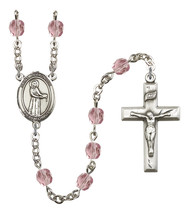 Women's St Petronille Rosary Beads Silver Plated Birthstone June R6000LA... - $74.55