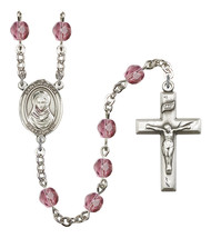 Women's St Rebecca Rosary Beads Silver Plated Birthstone Febuary R6000AM... - $74.55