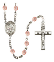 Women's St Rebecca Rosary Beads Silver Plated Birthstone October R6000PK... - $74.55