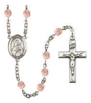 Women's St Rita Of Cascia Rosary Beads Birthstone October R6000PKS-8094 - $74.55