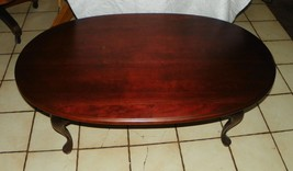 Solid Cherry Oval Coffee Table  (CT93) - $499.00