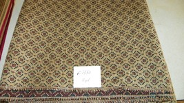 Beige Burgundy Dot Print Chenille Fabric/Upholstery Fabric 1 Yard  F1330 - $39.95