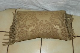 Beige Tan Rope Bullion Throw Pillow - $564,36 MXN