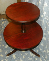 Mahogany Two Tier Table or Dumbwaiter Table  (T102) - $299.00