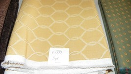 Gold Weave Print Fabric/Upholstery Fabric 1 Yard  F1333 - $39.95
