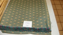 Green Gold Burgundy Dot Print Fabric/Upholstery Fabric 1 Yard  F1332 - $39.95