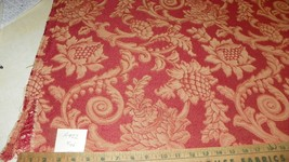 Persimmon Beige Print Jacquard Fabric/Upholstery Fabric 1 Yard  R422 - $49.95