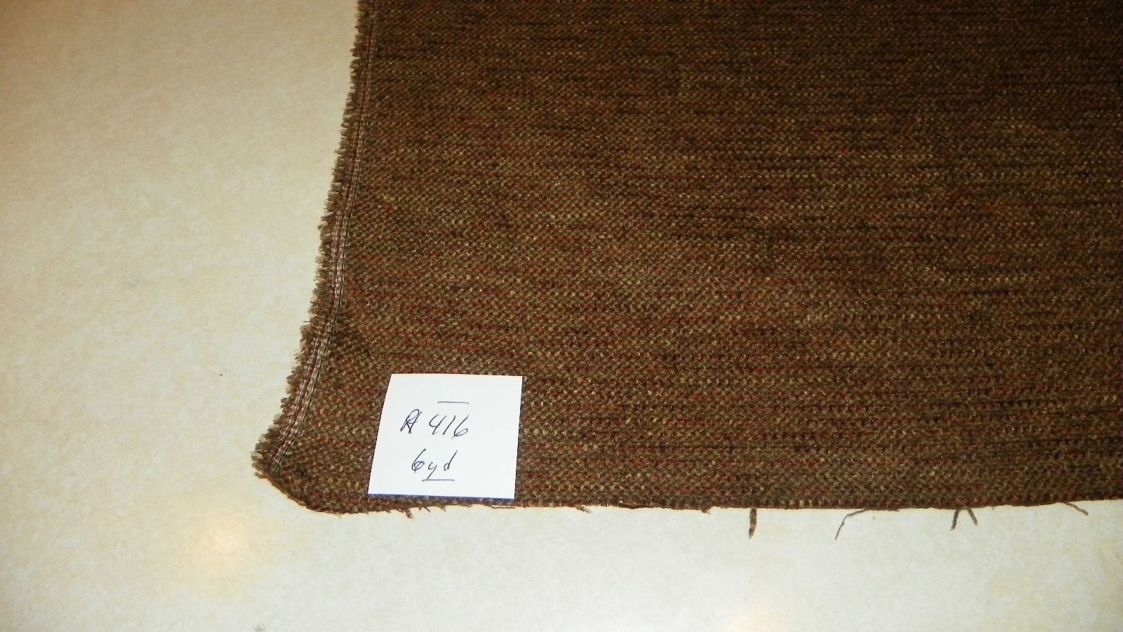 Brown Stria Nylon Upholstery Fabric 1 Yard  R416