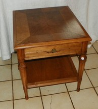 Pecan Heritage End Table / Side Table  (T21) - $349.00