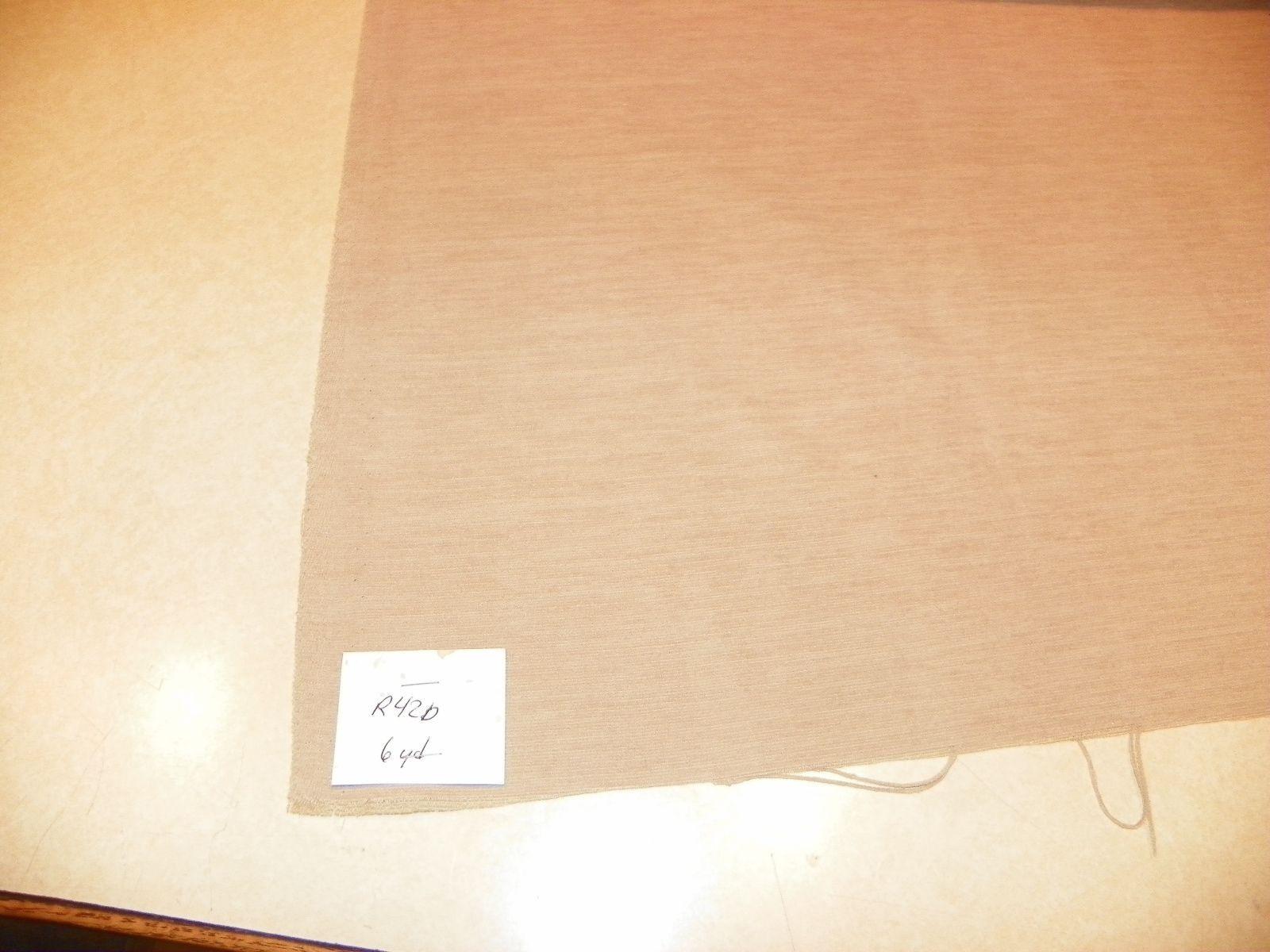 Beige Stria Velvet Upholstery Fabric 1 Yard  R420