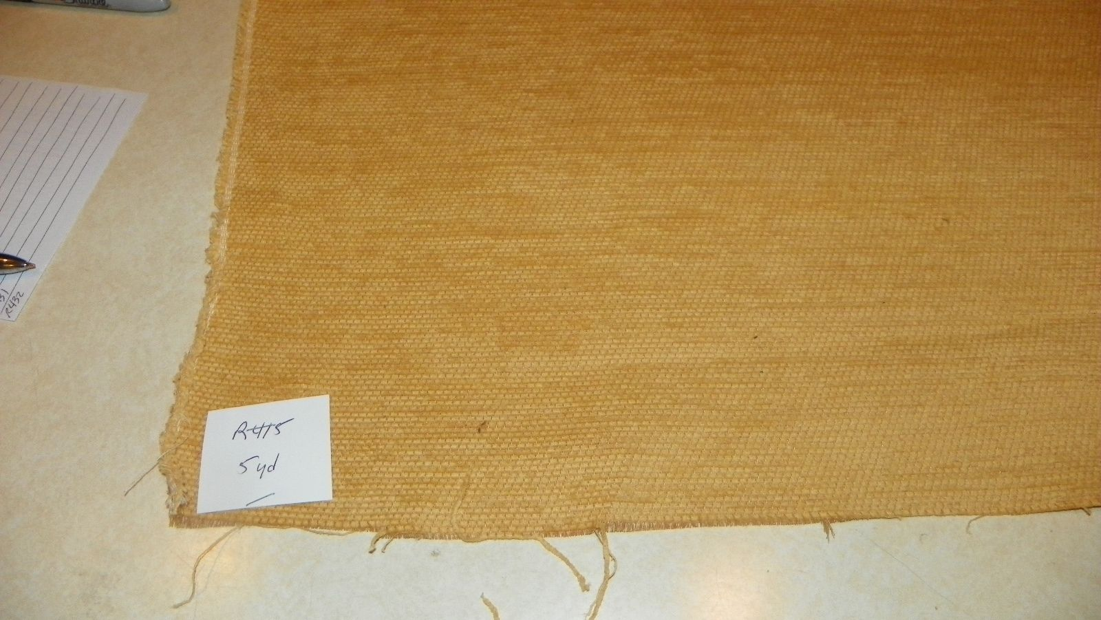 Gold Chenille Upholstery Fabric 1 Yard  R415