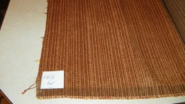 Gold Rust Brown Stria Upholstery Fabric 1 Yard  R429 - $29.95