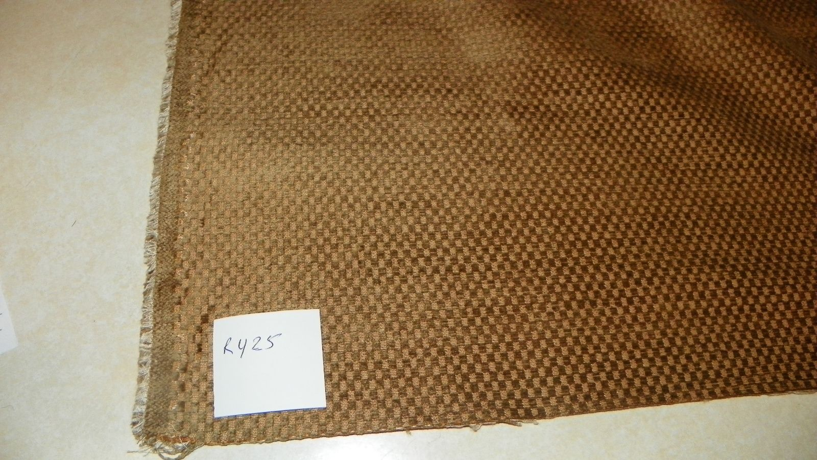 Gold Hobnail Upholstery Fabric 1 Yard  R425