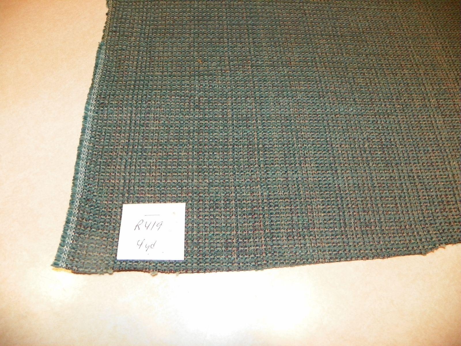 Blue Green Nylon Tweed Upholstery Fabric 1 Yard  R419